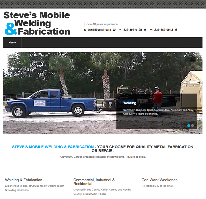 Steve's Mobile Welding and Fabrication Website